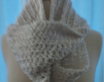 Infinity scarf in super white