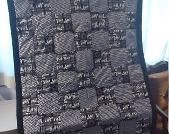Star Wars Storm Trooper quilt in grey and black