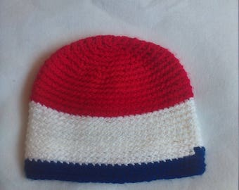 Skull hat in red white and blue