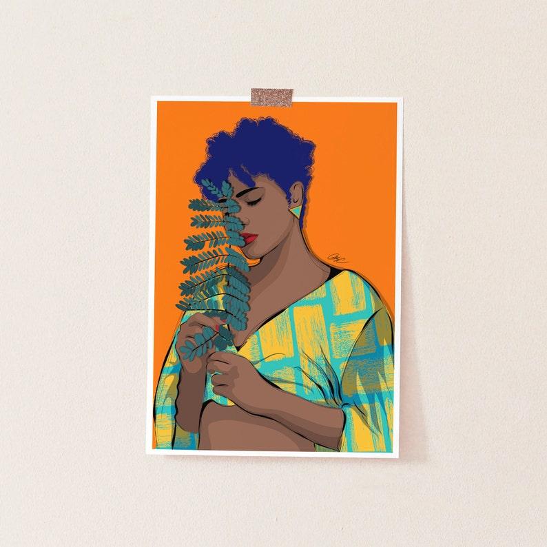 89eea8bca35 Natural hair art black girl magic african american art