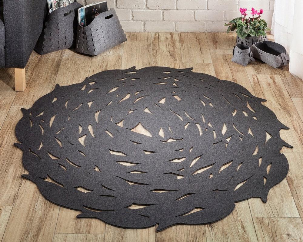 einweihungsgeschenk teppich runder teppich grau boho etsy. Black Bedroom Furniture Sets. Home Design Ideas