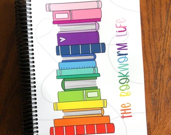 The Bookworm Life ™  Reading Planner - Reading Notebook - Book Planner - Book Lover Gift - Undated Monthly Weekly Planner - Bookish Journal