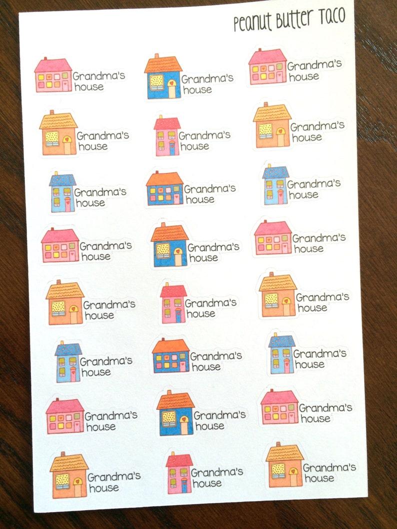 Grandma's House Planner Stickers  Grandma Stickers  image 0