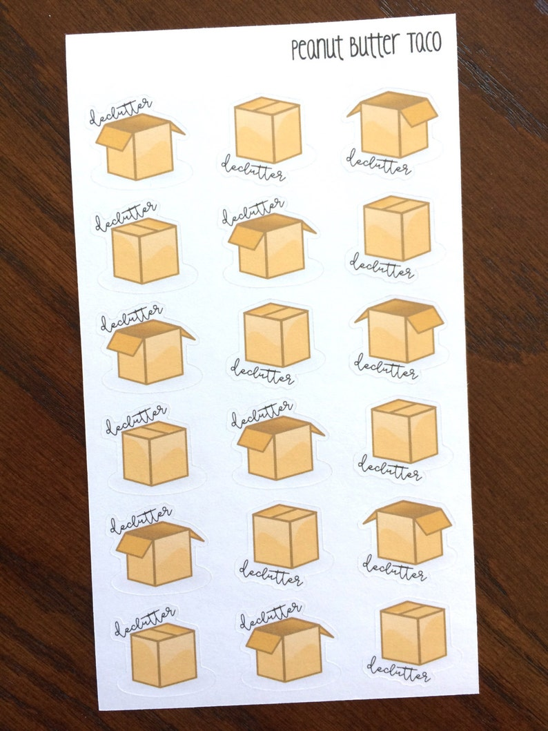 Boxes  Declutter Planner Stickers  Cleaning Planner Stickers image 0