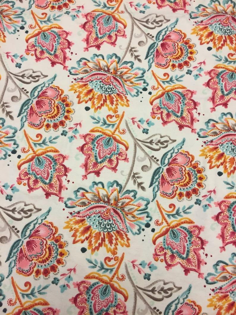 Reusable Cloth Pad Paisley Flowers