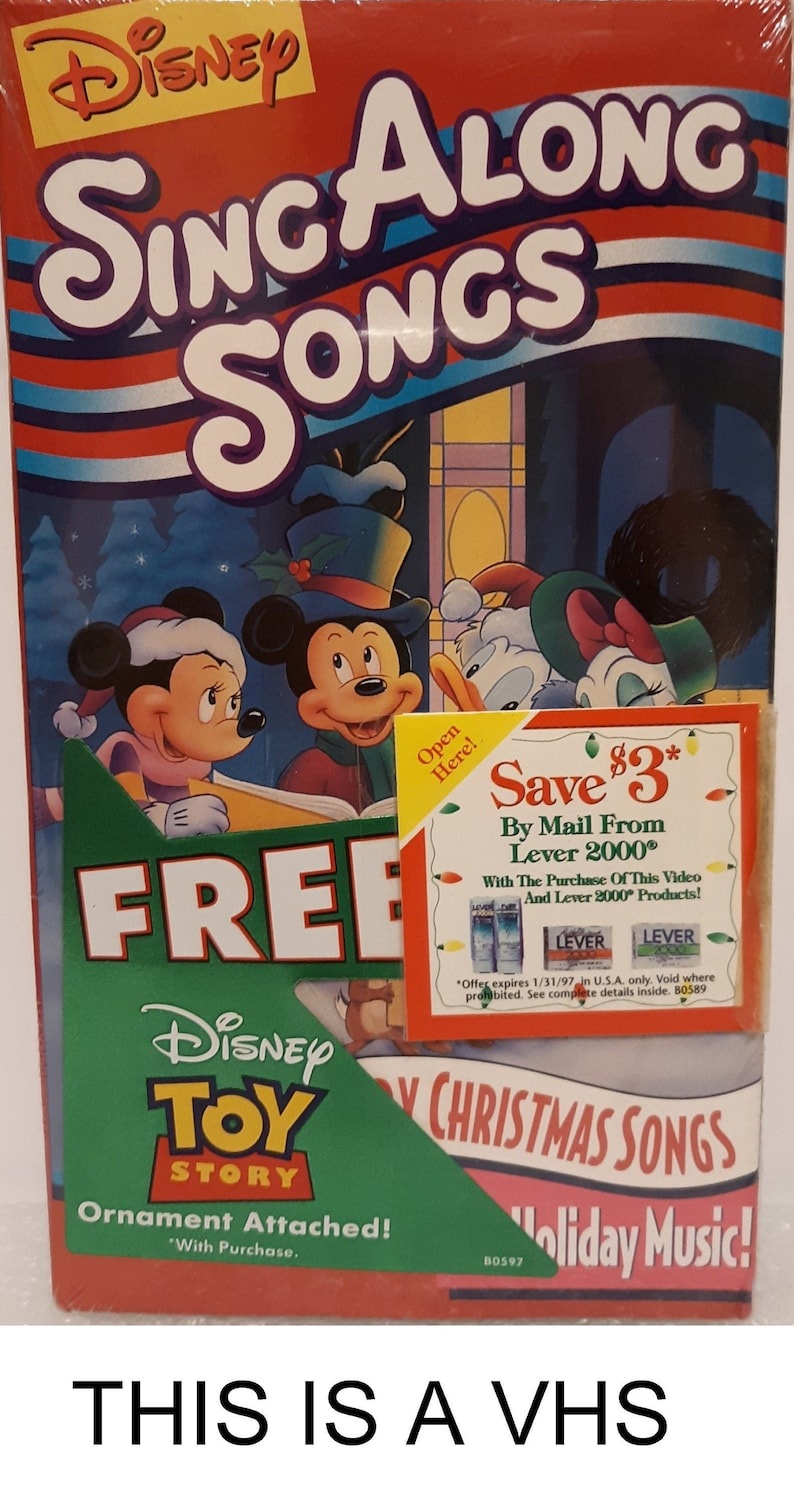 Sing Along Songs: Very Merry Christmas Songs (with Attached Buzz Lightyear  Ornament) VHS