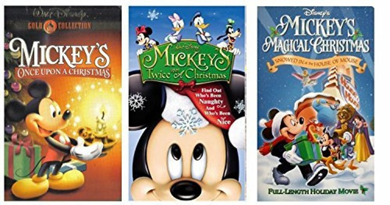 Mickeys Once Upon A Christmas.Mickey S Once Upon A Christmas Vhs Mickey S Twice Upon A Christmas Vhs Mickey S Magical Christmas Snowed In At The House Of Mouse Vhs