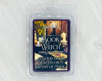 Book Witch Wax Melt   Book Inspired Scented Soy Wax Melt