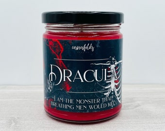 Dracula Candle   Dracula Inspired Scented Soy Candle