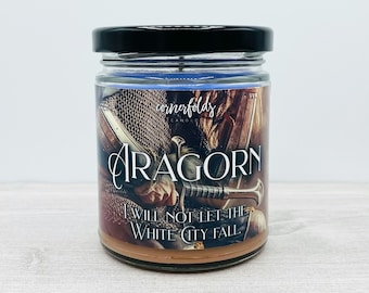 Aragorn & Arwen Candle   Lord of the Rings Inspired Scented Soy Wax Candle