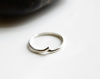 Wave Sterling Silver Stackable Ring