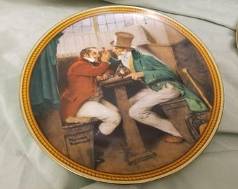 Norman rockwell by Knowles Collectors plate 1987 Clinging the Deal