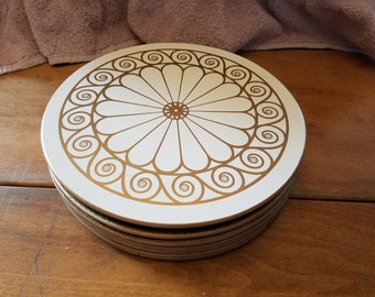 Set of 8 Lady Clare vanity trays placemats