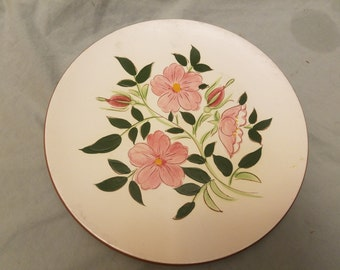"Vintage Stangl wild rose pottery 10"" Dinner plate"