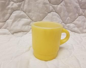 Vintage Yellow fireking Coffee mug tea cup