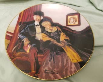Norman rockwell by Knowles Collectors plate 1988 End of Day