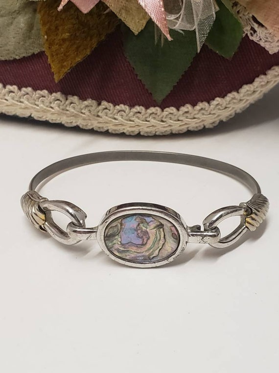 Vintage Avon 1976 /& 1977 Abalone Bracelet and ring set