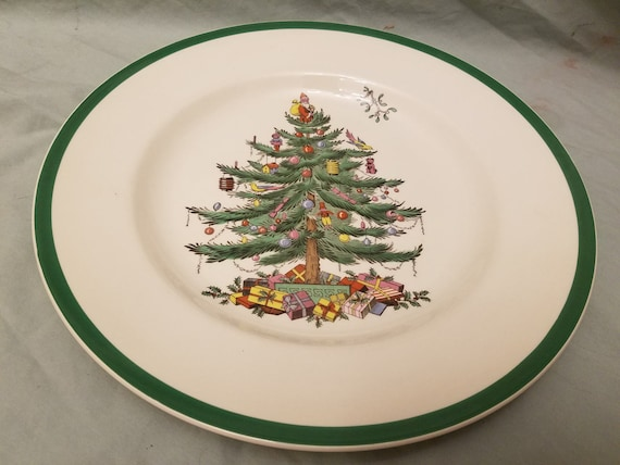 & Spode S3324 Christmas Tree Dinner plates 10 3/4