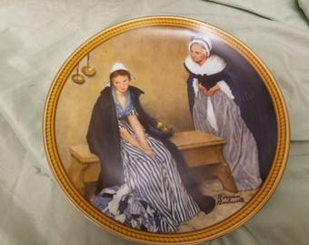 Norman rockwell by Knowles Collectors plate 1986 Words of Comfort