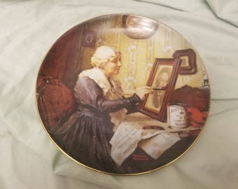 Norman rockwell by Knowles Collectors plate 1988 Grandma's Love