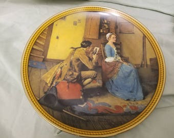 Norman rockwell by Knowles Collectors plate 1987 Portrait for a Bridegroom