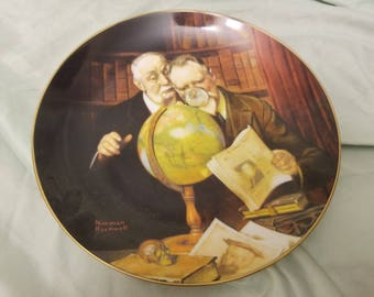 Norman rockwell by Knowles Collectors plate 1989 Newfound worlds