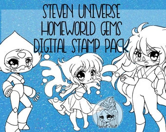 Steven Universe: Homeworld Gems  - Clip Art - Digital Stamp Pack