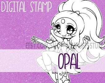 Steven Universe: Opal - Clip Art - Digital Stamp