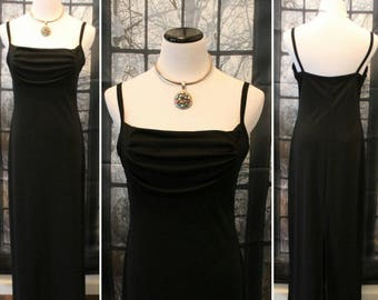 Vintage 90's Long Black Evening Gown By Molly Malloy,Evening Dress,Cocktail Dress,Dinner Dress,Summer Dress,Boho Dress,Retro Dress,Mod Dress