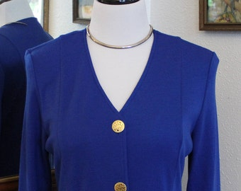 90's Vintage Imperial Blue Coat Dress