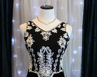 Vintage 90's Long Black Velvet Evening Dress By Scott McClintock,Evening Dress, Cocktail Dress, Long Black Dress,Retro, Boho Dress