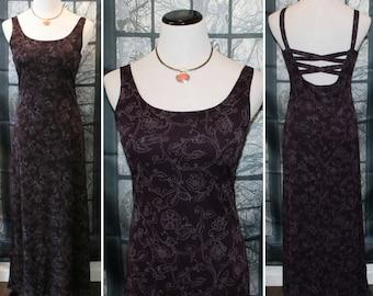 90's Vintage Dark Plum/Purple Sparkle Dress  By Byer Too!