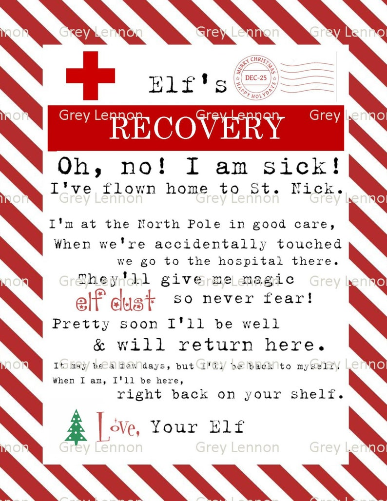 Christmas Elf Recovery Letter If Touched And Lost Magic Etsy