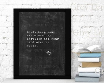 Religious Christian Funny INSTANT Download Printable Chalkboard Art - Lord, keep your arm around my shoulder and your hand over my mouth.