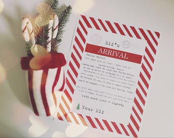 Christmas Elf Arrival Hello Letter First Night Thanksgiving Eve Printable - Vintage Typewriter Style - INSTANT Downloadable Printable PDF!