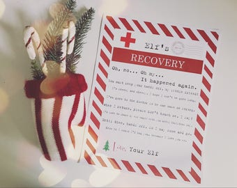 Elf Touched SECOND Time Christmas Elf Recovery Letter Lost Magic Printable - Vintage Typewriter Style - INSTANT Downloadable Printable PDF!