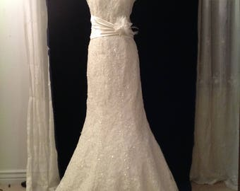 Lace beaded Wedding Dress