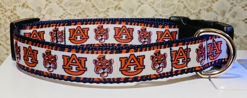 Auburn University  Tiger Face/AU Dog Collar image 0
