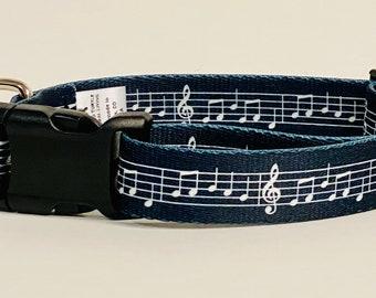 Sheet Music Dog Collar, Leash &/OR Keychain