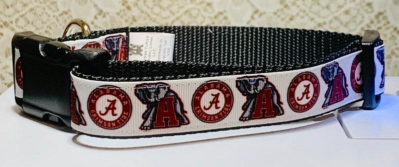 University of Alabama  White Dog Collar White image 0