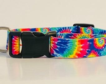 Tie Dye Spiral Dog Collar, Leash &/OR Keychain