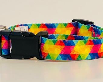 Kaleidoscope Dog Collar, Leash &/OR Keychain