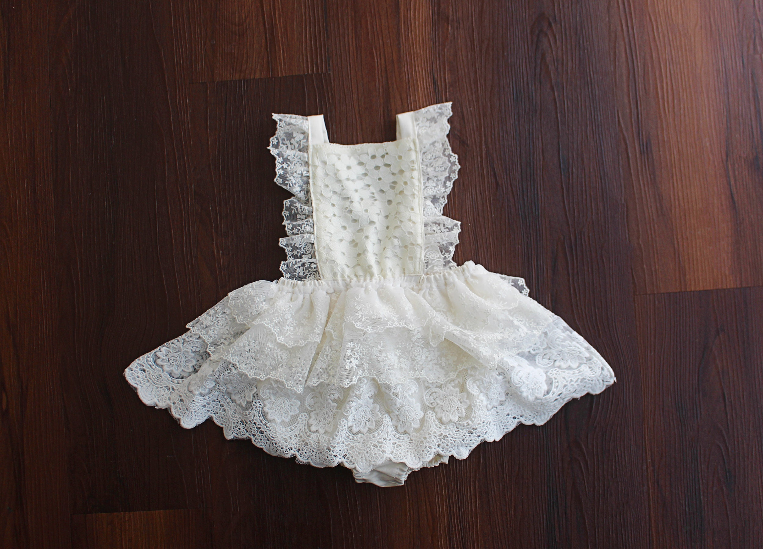 bff25af316ec9 Baby girl clothes baby girl romper white lace girl romper | Etsy