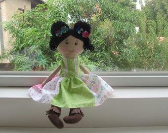 rag doll, customizable doll, custom cloth doll, custom rag doll, rag doll, cloth doll, gift cloth doll, colorful dress, doll