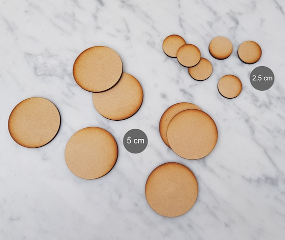 10 x Wooden Mdf Circles 4mm thick 12cm ideal for coasters