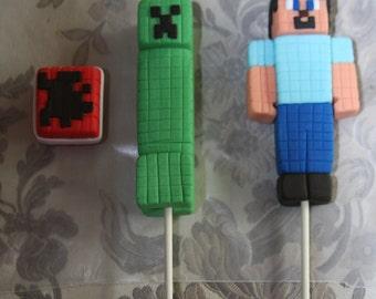 Ahnliche Artikel Wie Essbare Minecraft Kuchen Topper Figurchen