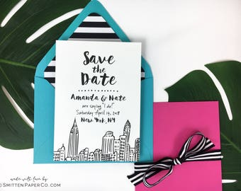 NYC Save the Date / NYC Wedding Invitation / NYC Skyline Invitation / Save the Date Cards / New York Wedding / City Wedding