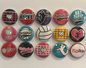 Volleyball Magnets - set of 15