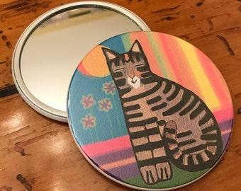Artsy Cat Purse Mirror