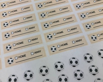 Sports Lesson Practice Training Sticker Football Soccer Ball Planner Stickers